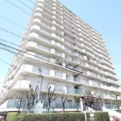 総戸数277戸のマンションとなりますので、外観はとても迫力があるマンションになります。(外観)