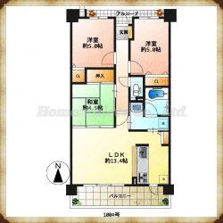 平成29年6月に室内をリフォームしており、大変綺麗なファミリーマンションです。(間取)